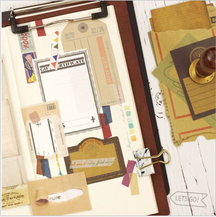 32 страницы/обновления ежедневно старинные марки Блокнот N раз заметки Эсколар papelaria расписание список DIY планировщик Закладки сообщение при... ...