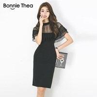2018 women summer dress black Office work Business short dresses femme Hollow Out Batwing Sleeve Sheath dress Vestidos
