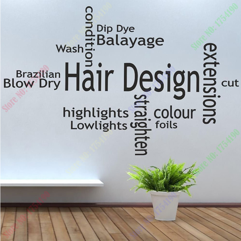 New Arrival Hair Shop Vinyl Wall Decal Spa Barber Shop Hair Shop