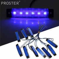 Proster 10 Pcs für 12 V 6 LED Blau Licht 96x20x8mm Bus Lkw Anhänger Lkw marker Anzeige Seite lampe
