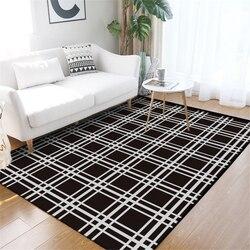 Nowoczesne klasyczne geometryczne  czarny i biały pled dywan dywany dla dywan do salonu dla dzieci pokój stolik obszar dywaniki maty podłogowe w Dywany od Dom i ogród na