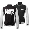 2015 New Winter Clothing Buttons Tracksuit Preppy Style Cool Coats And Linkin Punk Park Rock Band Baseball Bomber Jacket Men 3XL