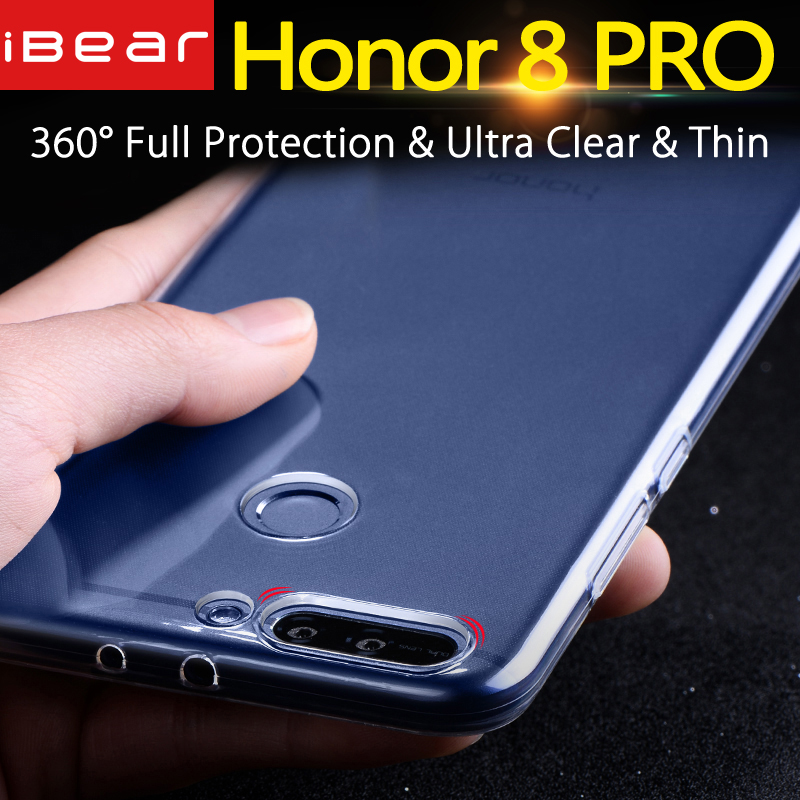 Coque Huawei Honor 8 Pro Coque Huawei Honor 8 Pro Silicone Clear Back Mofi Honor8 PRO Case 5.7 Duke Coque TPU transparent