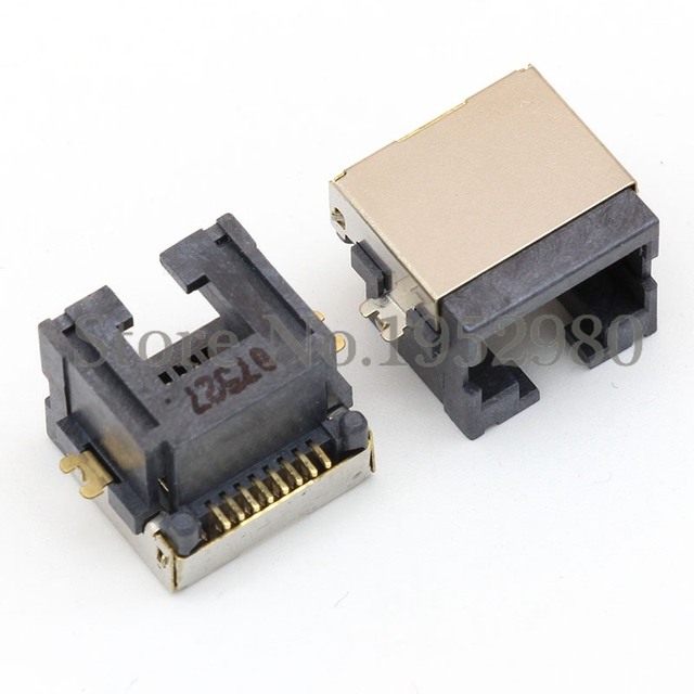 Aliexpress.com : Buy 10PCS RJ45 Network Jack Connector 8 Pin Offset ...