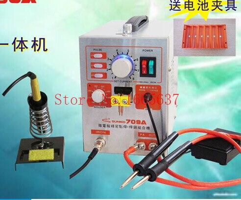 2 in 1 Pulse Battery Spot Welder Soldering Welding Machine 709A One Year Warranty + Iron + Stand + Pen + Nickel CE Certificate