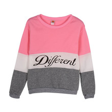 New Letter Printed Women Pullover Tops Sweat Shirt Blouse Sweater Thick Tracksuits Sudaderas Y6