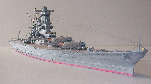 Самодельная Бумажная модель 1:250 IJN Yamato Battleship Императорский японский темно-синий сборка ручной работы 3D игра-головоломка детская игрушка