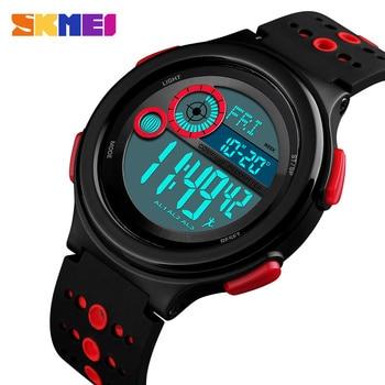 d12ca0be5a3c Skmei hombre reloj deportivo brújula podómetro kilometraje calorías  distancia cuenta atrás metrónomo Digital relojes para hombre impermeable  reloj