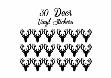 30Pcs DIY 2inch Deer Style Wall Kitchen Jar Bottle Stickers Deer Shape Adhesive Chalkboard Sticker Labels Party Favors Glasses