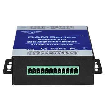 Industrial Grade Remote IO Module RTU for Industrial Energy Monitor & Flow Meter AIN+Temperature Modbus RTU Remote IO DAM124