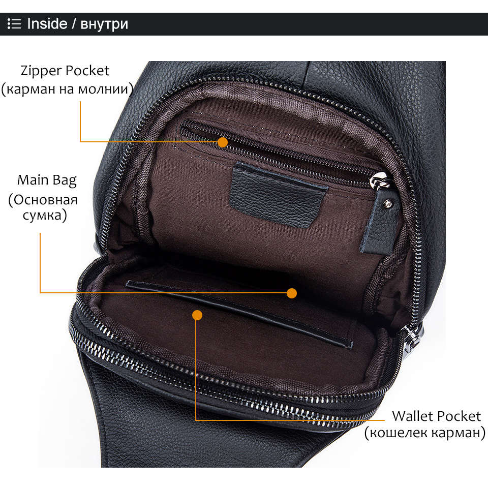 Cheap genuine leather men bag