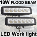 THTMH 2X18 Вт Противотуманный Фонарь 6 дюймов 18 Вт LED Work Light Bar Наводнение Дальнего света Off Road 4WD