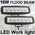 THTMH 2X18 W luz de Nevoeiro de 6 polegada 18 W LED Trabalho Light Bar Driving Lâmpada Flood Off Road 4WD