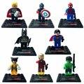 8 unids avengers super hero batman deadpool bloques huecos de los niños juguetes para niños super heroes
