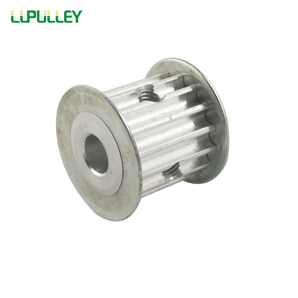 LUPULLEY 2PCS 5M 15Teeth Timing Pulley for Belt Drive 21mm Width 5mm/6mm/6.35mm/8mm/10mm/12mm Bore Synchronous HTD Belt Pulley lupulley 1pc wheel timing pulley htd 5m 40t teeth 21mm width 6mm 8mm 10mm 12mm 14mm 15mm bore pulley for belt drive synchronous