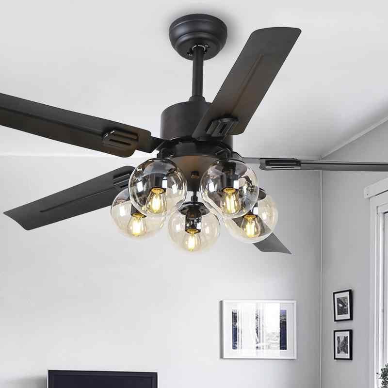 Mooielight светодиодный e27 Лофт из древесины крепкой породы Стекло потолочный вентилятор светодиодный светильник. светодиодный свет. потолочные светильники. светодиодный потолочный светильник. потолочный светильник для фойе