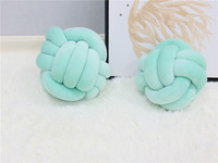 2/3 Strands Room Decoration Pillow for Children Princess Girl Round Arm Back Cushion Kid Sofa Ball Knot Pillow Photography Props