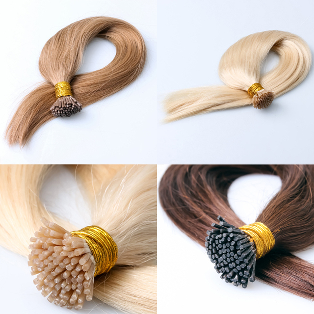 Straight Fusion Hair Extensions Unprocessed Peruvian Virgin Hair 7a Grade I Tip Hair Extensions 1g/strand Colorful Keratin Hair