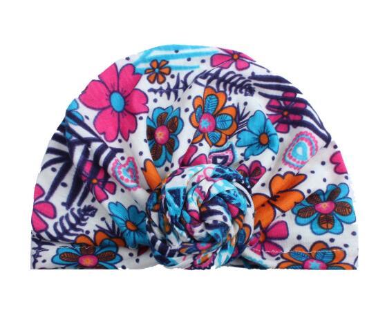 10PCS Baby Winter Warm Hats India Cap for Toddler Infants Turban Hats Floral Casual Skullies Beanie Girl Head Wrap Bohemian Cap