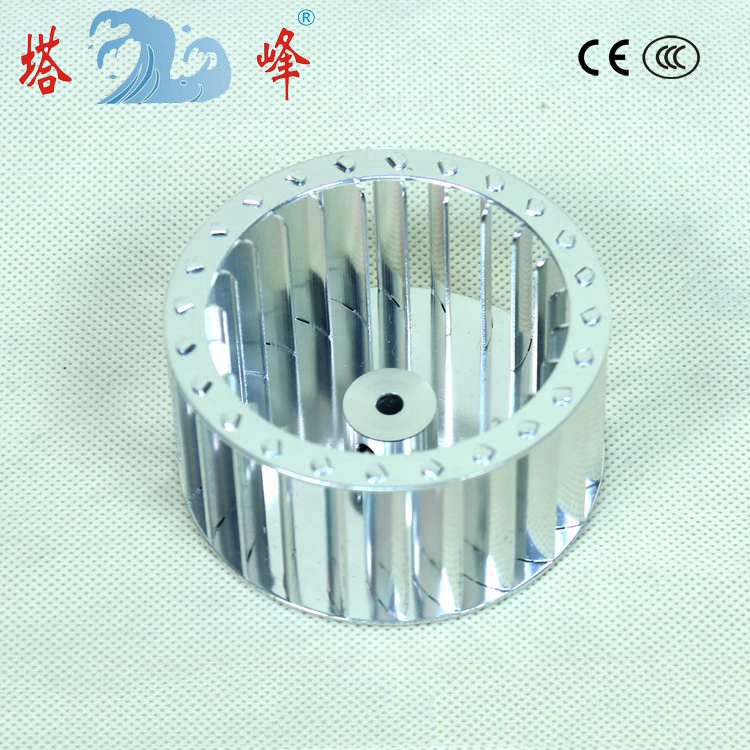 80mm diameter 42mm height 5mm shaft anodizing aluminum wheel small centrifugal impeller
