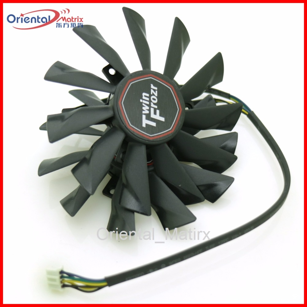 Gratis frakt 2st / lot PLD10010S12HH 12V 0.40A För MSI R7-260X R9-290X R9-280X R9-270X Twin Frozr Graphics Card Fan