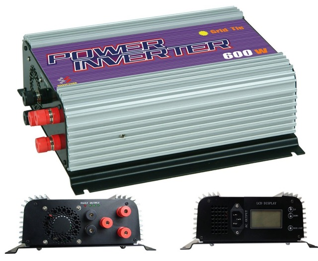 Free shipping,600W Wind power Inverter,grid tie inverter,power inverter (SUN-600G-WAL-LCD)With LCD Display,MPPT Function