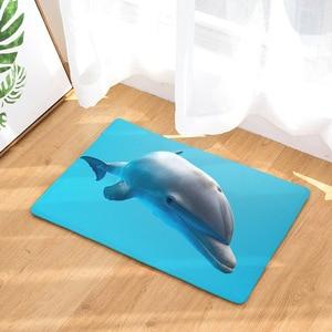 Image 5 - CAMMITEVER Foot Door Yoga Chair Play Mat Bathroom Hallway Carpet Area Rug Rectangular Home Decoration Dolphin In Blue Sea