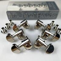 100 Original Grover Guitar Machine Heads Tuners 1Set 3R 3L 1 18 Nickel With Original Packaging