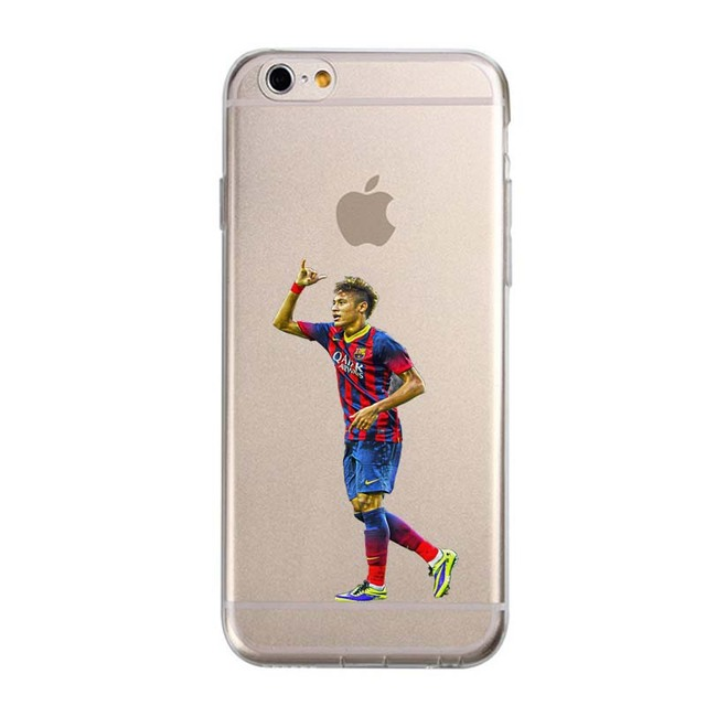Transparent Football Stars cristiano Ronaldo messi For IPhone 5 5S SE 6 6S Plus 7 Phone Case Ultra slim silicone Tpu Phone Cover