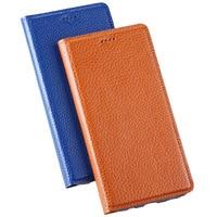 For Lenovo Vibe S1 Lite Case Cover Litchi Grain Design Luxury Flip Genuine Leather Case Cover