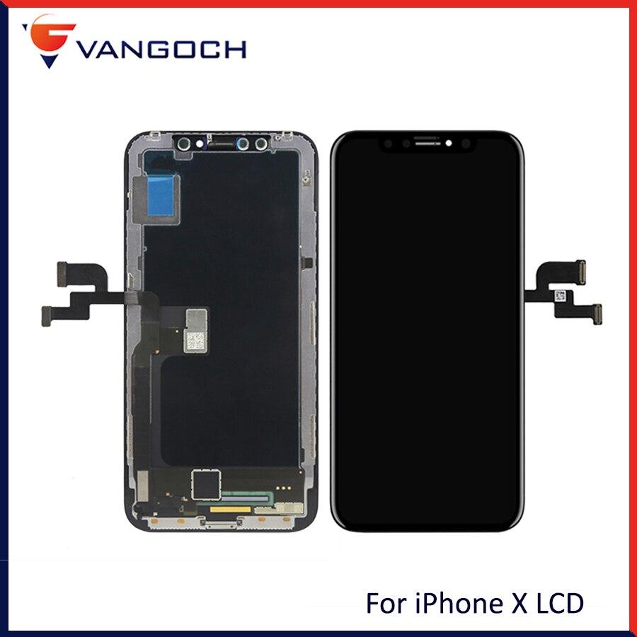 D'origine Qualité AAA LCD Pour iPhone X LCD OLED Affichage Remplacement Avec 3D Tactile Visage Reconnaissance Digitizer Assemblée Remplacement