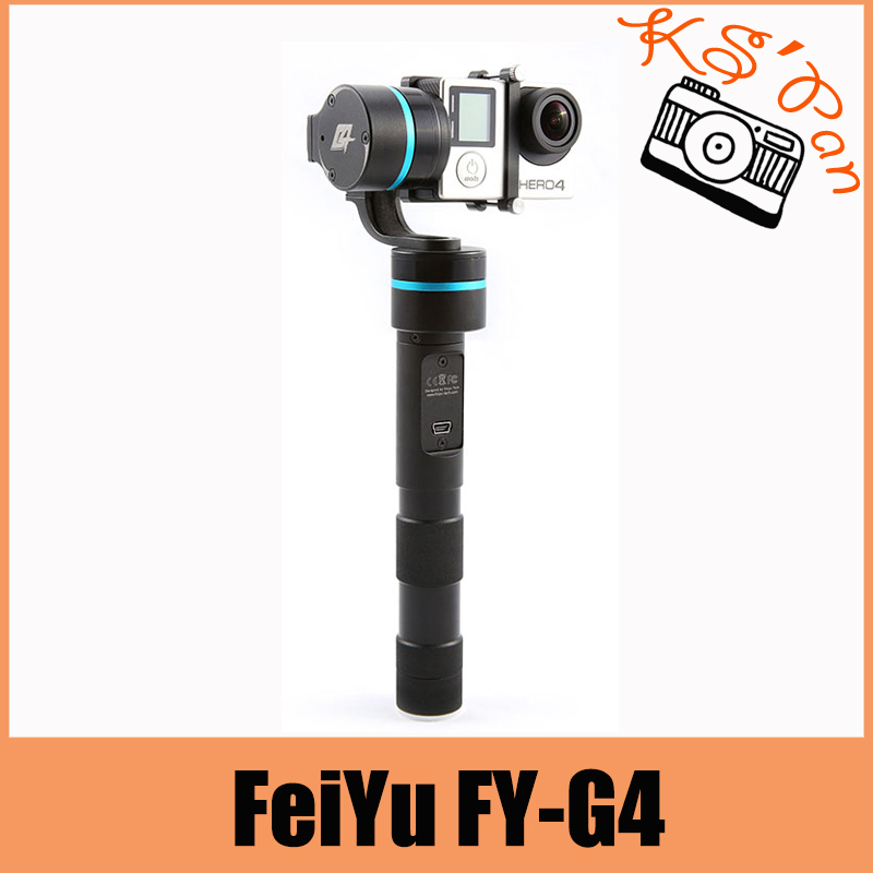 FeiYu FY-G4 3 Axis Handheld Gimbal Brushless Handle Steadycam Camera Mount for Gopro Hero 3 3+ 4 Compatible With Gopro3 LCD fpv 3 axis cnc metal brushless gimbal with controller for dji phantom camera drone for gopro 3 4 action sport camera only 180g