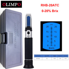 olimpo RHB-20 Brix Refractometer 0-20%Cutting Fluid Juice Sugar Food Tester Jelly Soft Drink Tester(China)