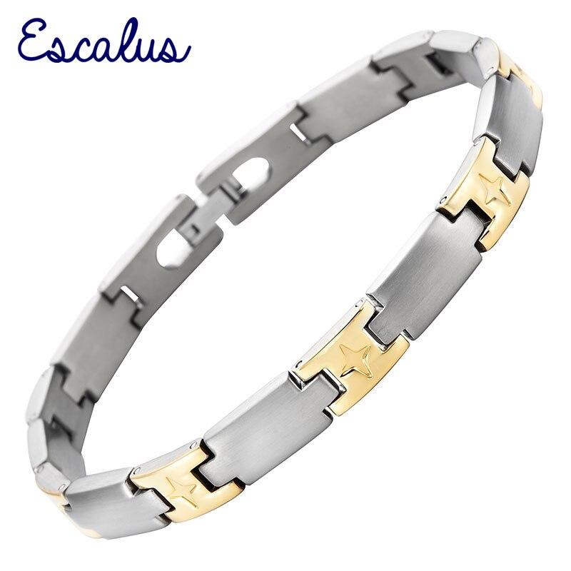 12pcs//Set Hotsale 3 Couleur Bracelet en acier inoxydable Femmes Mince Bracelet 2mm*67mm
