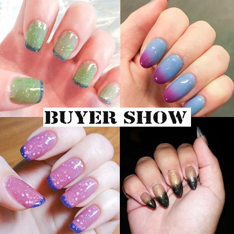 Azure Beauty 12 ml / pcs Cambio de temperatura Glitter Color Gel - Arte de uñas - foto 5