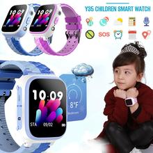 Astuto Della Vigilanza Y35 Bambini della Scheda Sim di Tocco di Colore di Posizionamento One Touch SOS Anti Perso Impermeabile Per IOS android Per Il Capretto