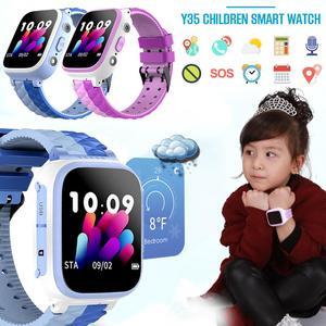Image 1 - Montre intelligente Y35 enfants carte Sim couleur tactile positionnement une touche SOS Anti perte étanche pour IOS Android pour enfant