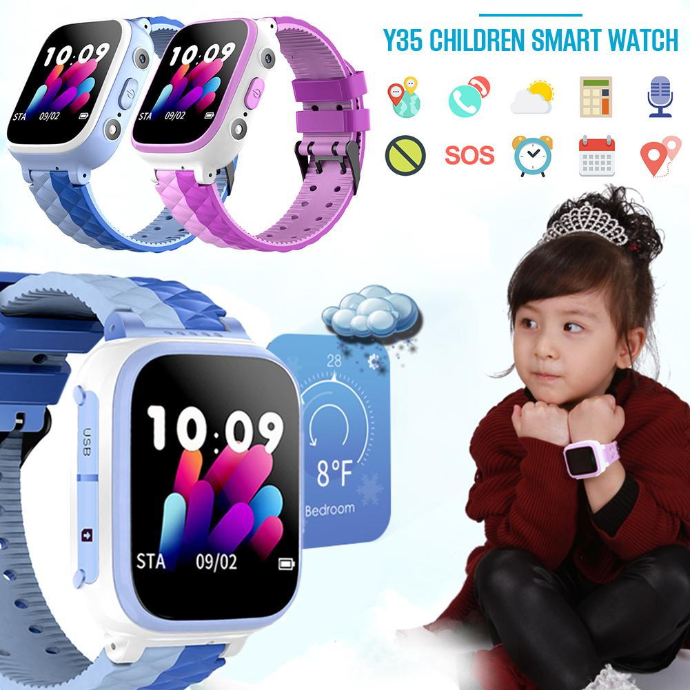 Smart Watch Y35 Children's Sim Card Color Touch Positioning One   Touch SOS Anti   Lost Waterproof For IOS Android For Kid-in Smart Watches from Consumer Electronics