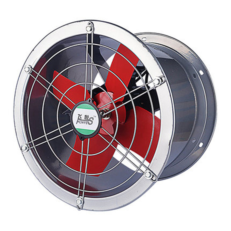 220 V 80 W ventilateur industriel ventilateur d'échappement cylindre ventilateur 10 pouces cuisine usine pur cuivre moteur double roulement à billes