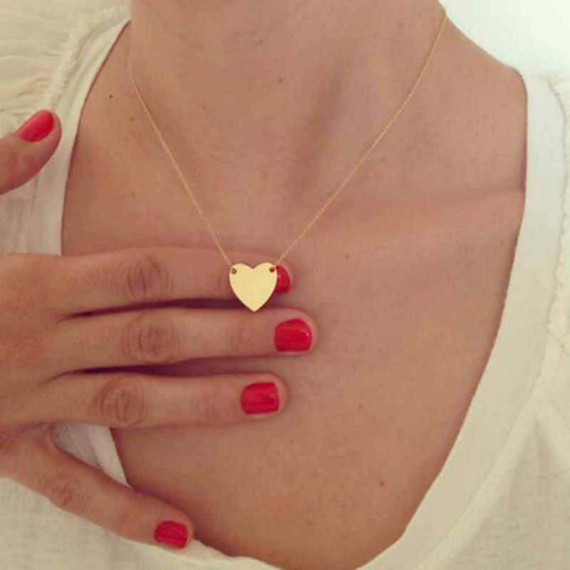 2018 Classic Small Heart Pendant For Women Summer Short Chain Choker Necklace Collar Pendant Holiday Beach Necklace X179