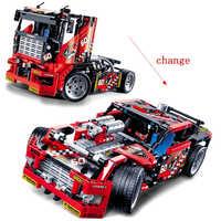 Technique Course Camion 608 pièces Blocs De Construction Transformable voiture Lourde Jouets Pour Enfants De voiture