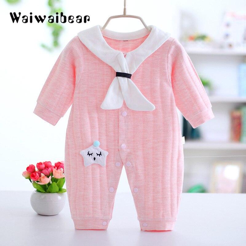 Bebê recém-nascido dos miúdos das meninas do menino roupas listra longo macacão macacão macacão roupas de manga longa bebê roupas garantia de qualidade