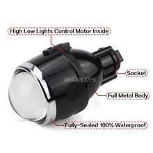 Universal Bi-Xenon Fog Lights Projector Lens Retrofit 2 Pieces
