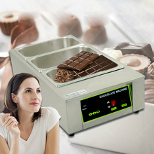 Chocolate Fountain Melting Pot Digital Electric Stainless Steel Chocolate Melting Machine 3 Lattices 12 KG Capacity