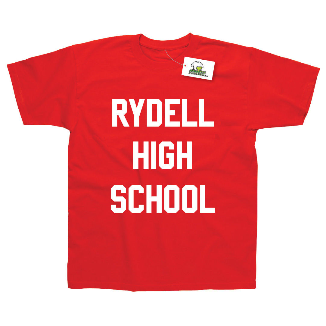Rydell High School Inspired by Grease Printed T-Shirt Top Tee 100% Cotton Humor Men Crewneck Shirts