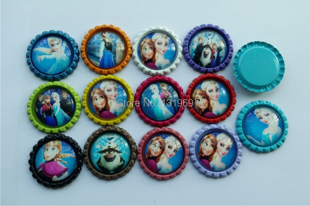 "wlesale 1111pcs 11 "" (11mm ) Flattened Bottle Caps with Time gem ..."