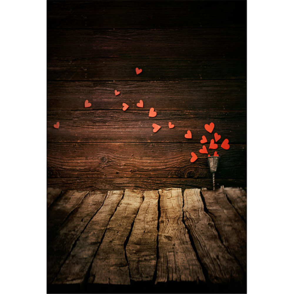 baby newborn wood photography backdrop printed red love