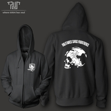 Free shipping metal gear fox hound special force men women unisex zip up hoodie hooded Sweatershirt organic cotton fleece inside