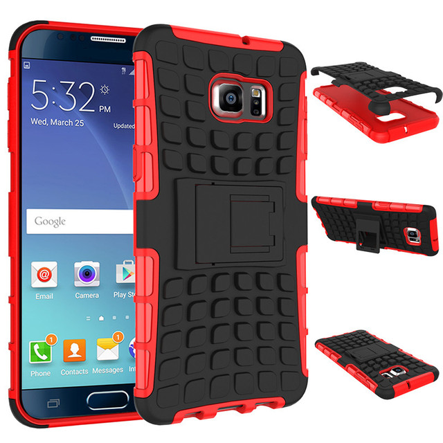 PC + TPU Heavy Duty Case For Samsung Galaxy Note 5 N9200 N9208 N9209 N920F SM-N920F Stand Defender Armor Case Back Cover