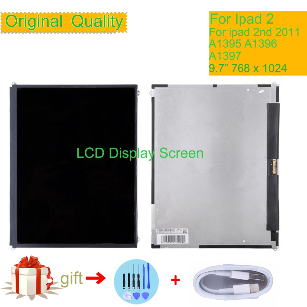 Black LCD+Touch Screen Digitizer Replacement For Apple iPad 2 A1395 A1396 A1397